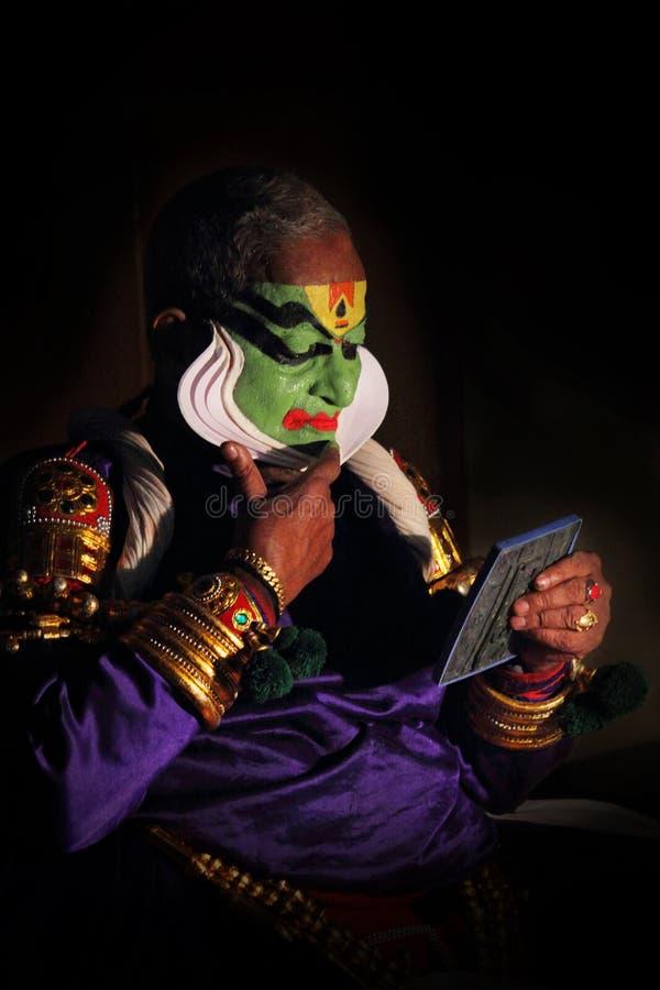 Gopi Асан художника Kathakali стоковые фотографии rf