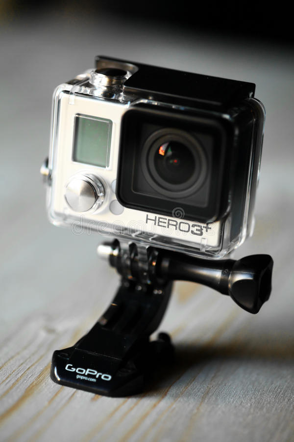 GoPro行动照相机 库存照片