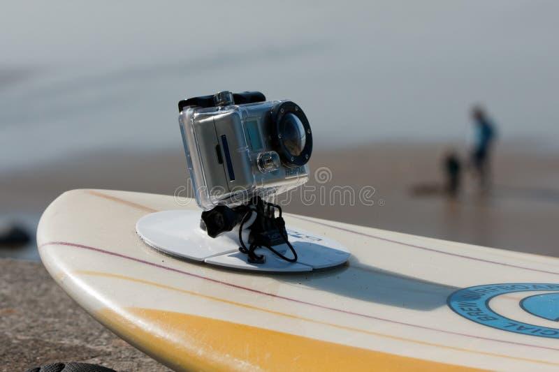 GoPro Kamera HD HERO2 Brandung-Ausgabe stockfotografie