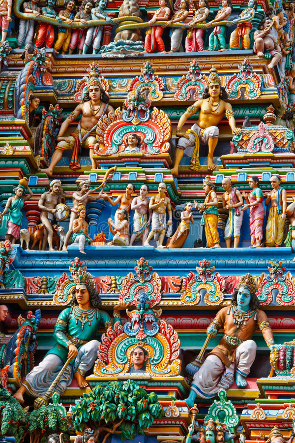 gopuram印度寺庙塔 免版税图库摄影