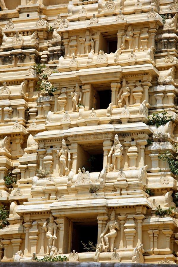 gopuram印度寺庙塔 免版税库存照片