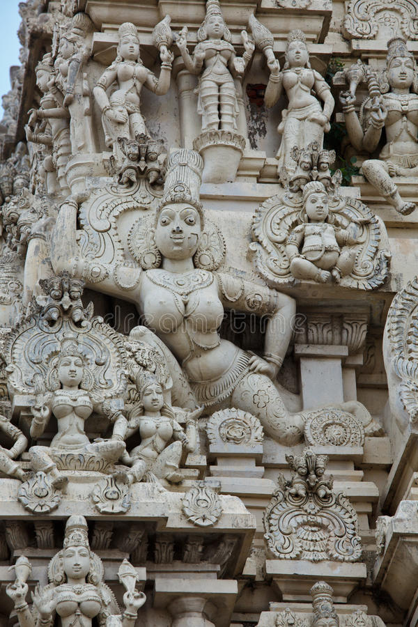 gopuram印度寺庙塔 库存图片