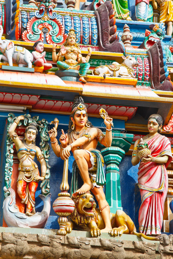 gopuram印度寺庙塔 库存照片