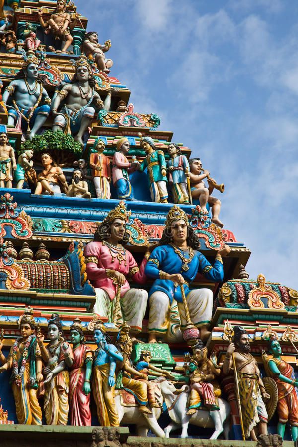 gopuram印度寺庙塔 免版税库存图片
