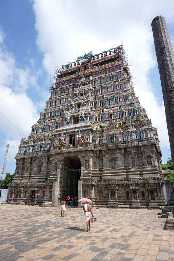 Gopuram på Chidambaram royaltyfri bild