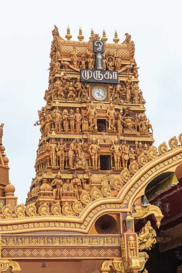 Gopuram wierza przy wejściem Nallur Kandaswamy świątynny Kovil, Jaffna - Sri Lanka zdjęcie royalty free