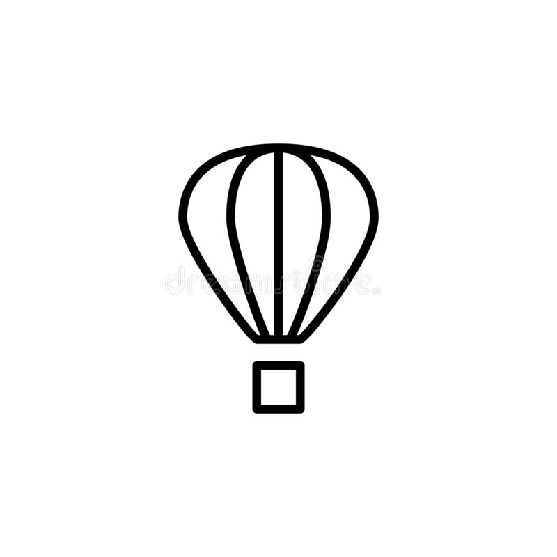 Gorące powietrze balonu ikony zapas transportów pojazdy odizolowywał wektor royalty ilustracja
