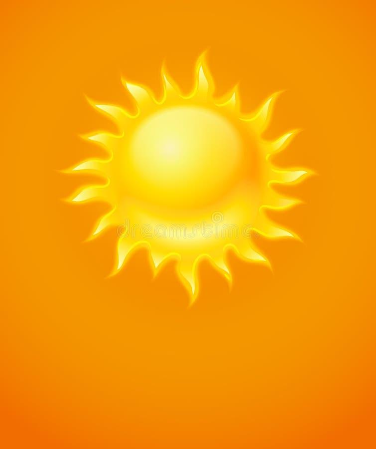 Gorąca żółta słońce ikona royalty ilustracja