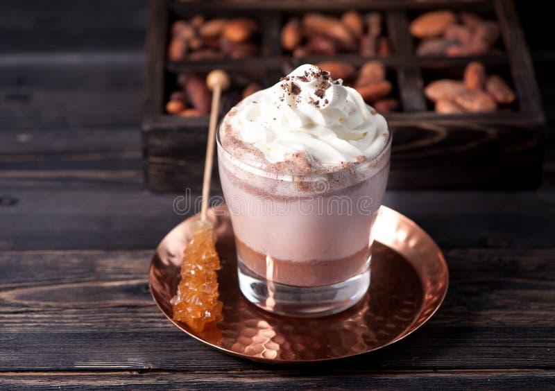 Gorąca czekolada lub kakaowy napój obraz royalty free