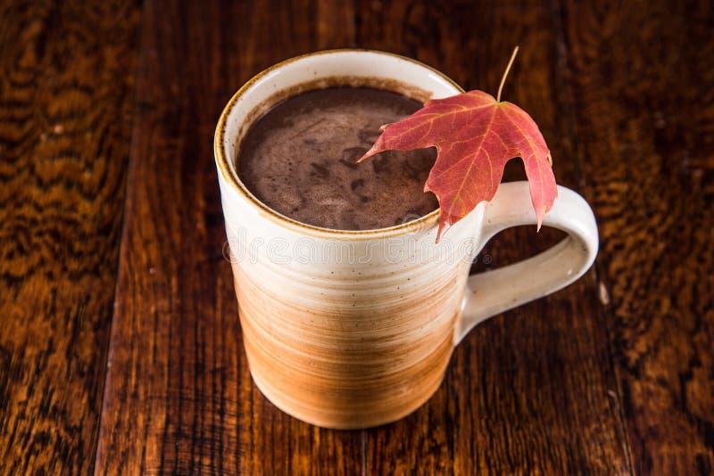 Gorąca czekolada w spadku zdjęcie stock