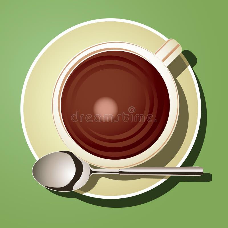 gorąca czekoladowa filiżanka ilustracja wektor