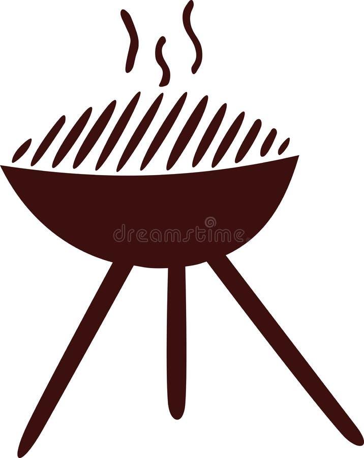 Gorąca grill ikona royalty ilustracja