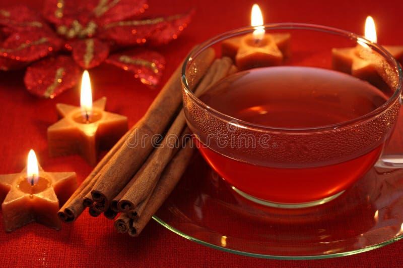 gorąca herbaciana zima fotografia royalty free