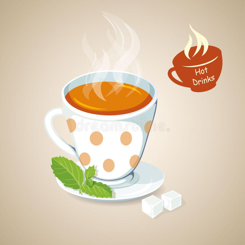 gorąca herbata ilustracji