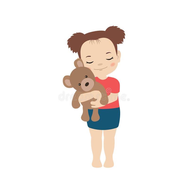 Gorąca i zimna dziewczyna ilustracja wektor
