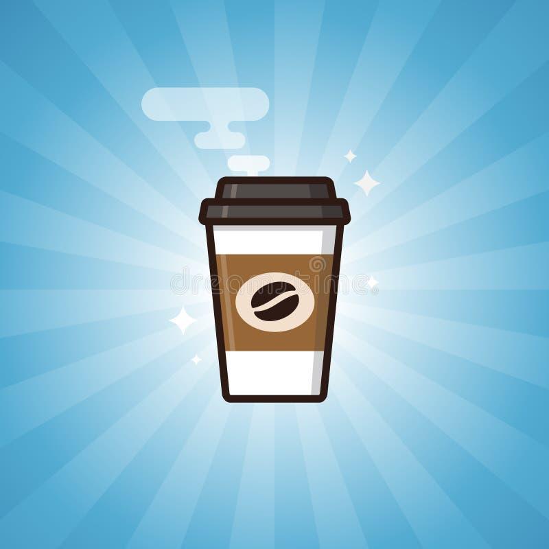 Gorąca kawowa papierowa filiżanka ilustracji