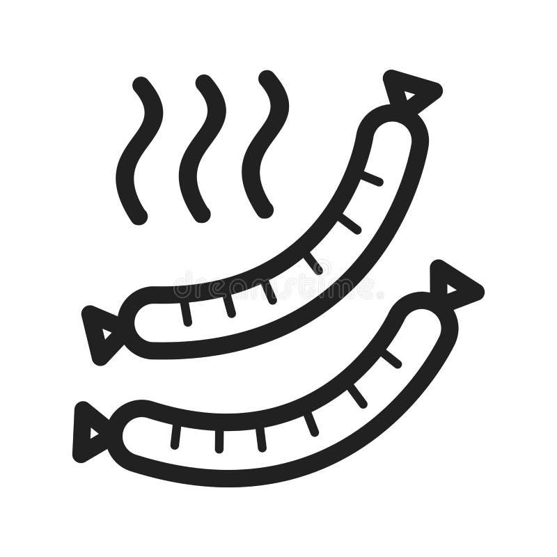 gorąca kiełbaski ilustracja wektor