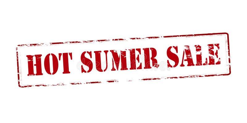 Gorąca lato sprzedaż ilustracji