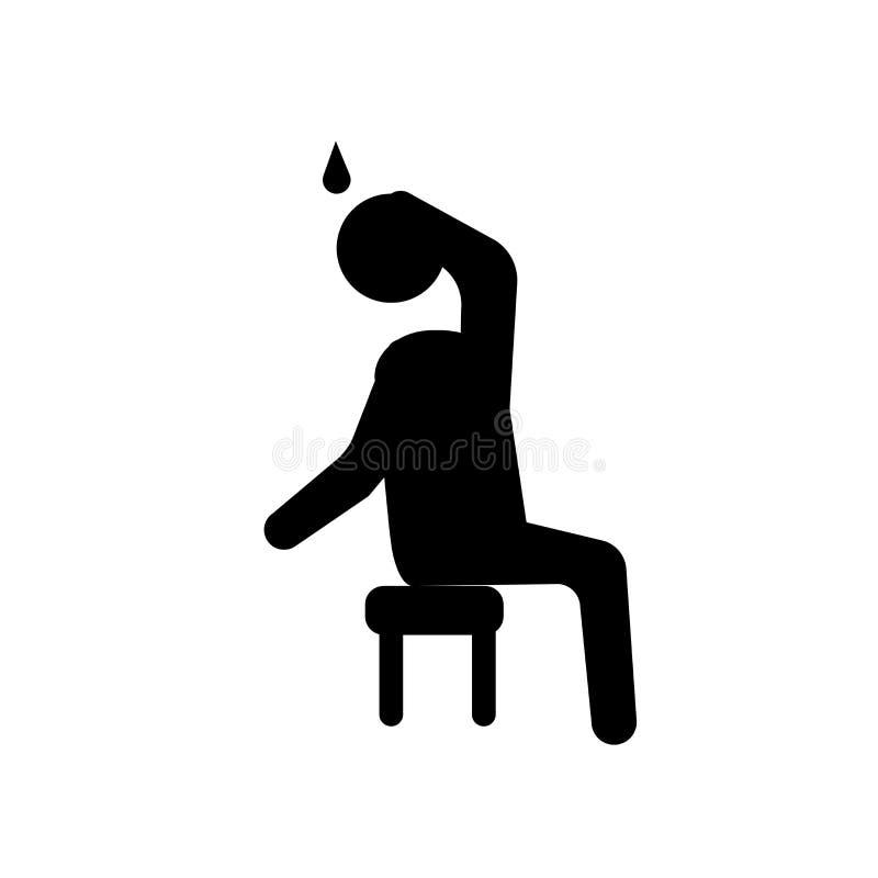 gorąca ludzka ikona Modny gorący ludzki logo pojęcie na białym backgroun ilustracji