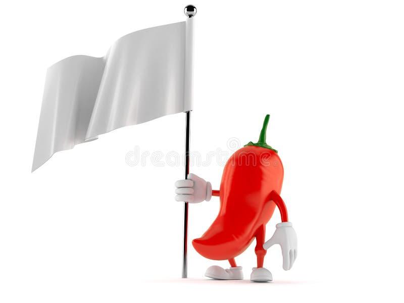 Gorąca papryka charakteru mienia pustego miejsca flaga royalty ilustracja