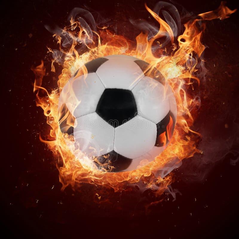Gorąca piłki nożnej piłka obrazy stock