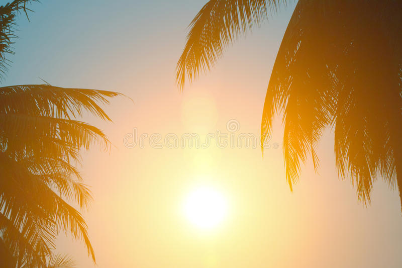 Gorąca pogoda, chmury patrzeje kolorową przed zmierzchem zdjęcie royalty free