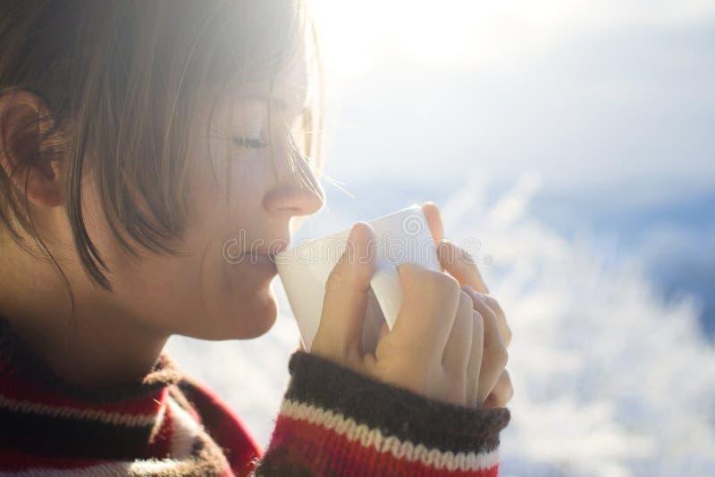 Gorąca ranku napoju zima obrazy stock
