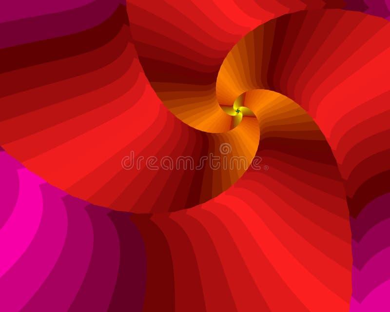 gorąca spirali royalty ilustracja