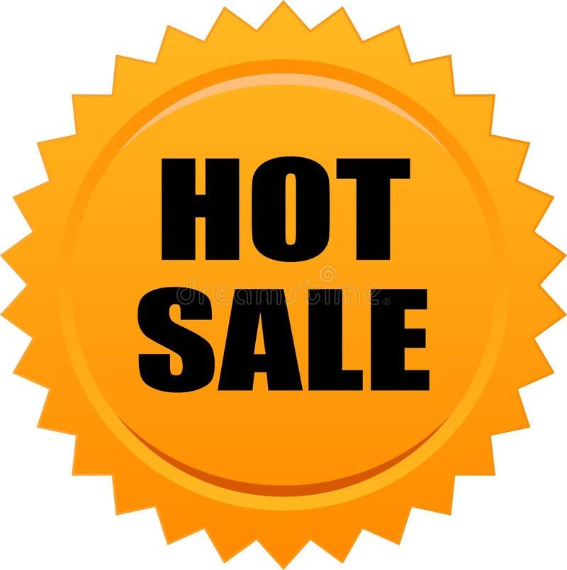 Gorąca sprzedaży foki znaczka pomarańcze ilustracja wektor