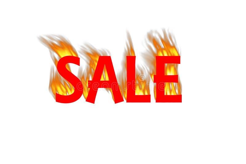 Gorąca sprzedaży grafika na Białym tle obrazy stock