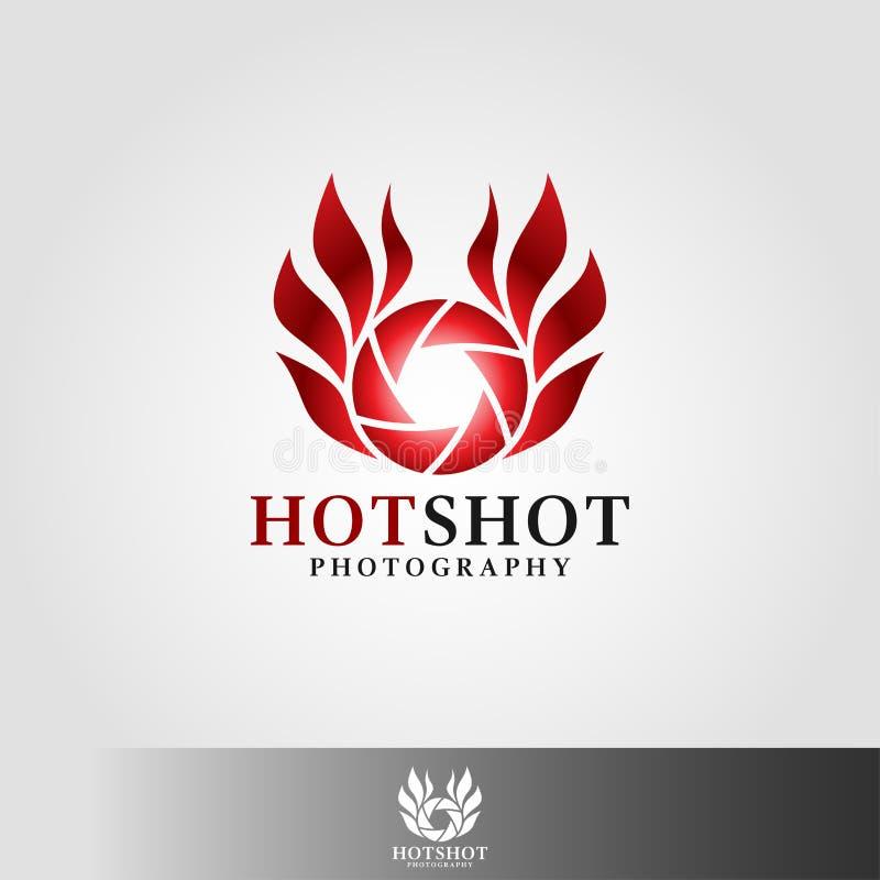 Gorąca strzał fotografia - kamera logo royalty ilustracja