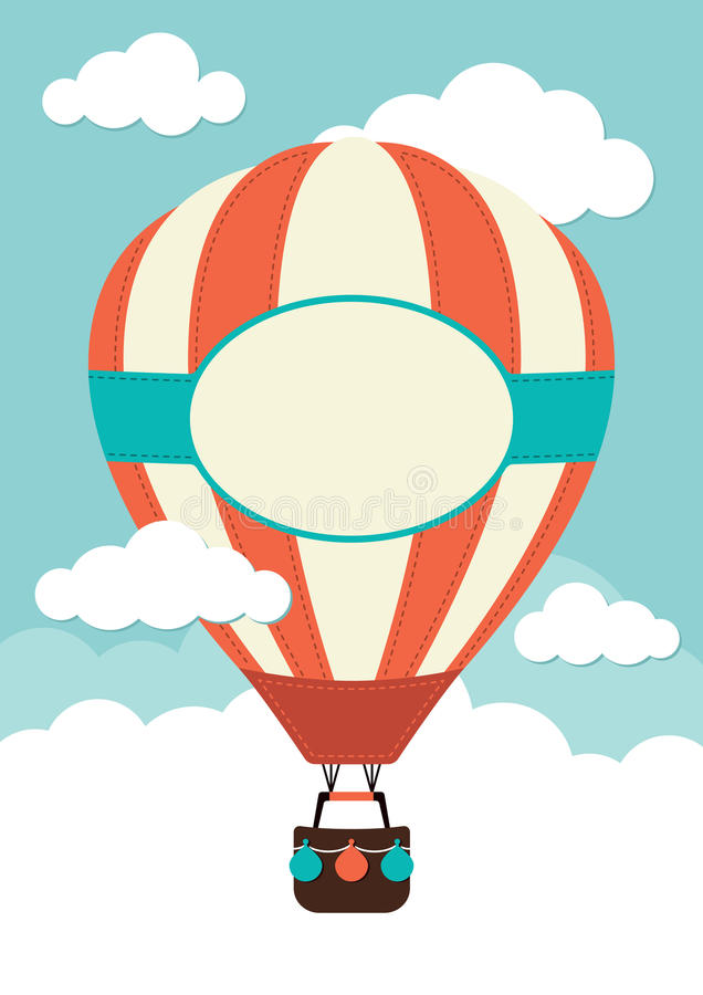 Gorące Powietrze balon royalty ilustracja