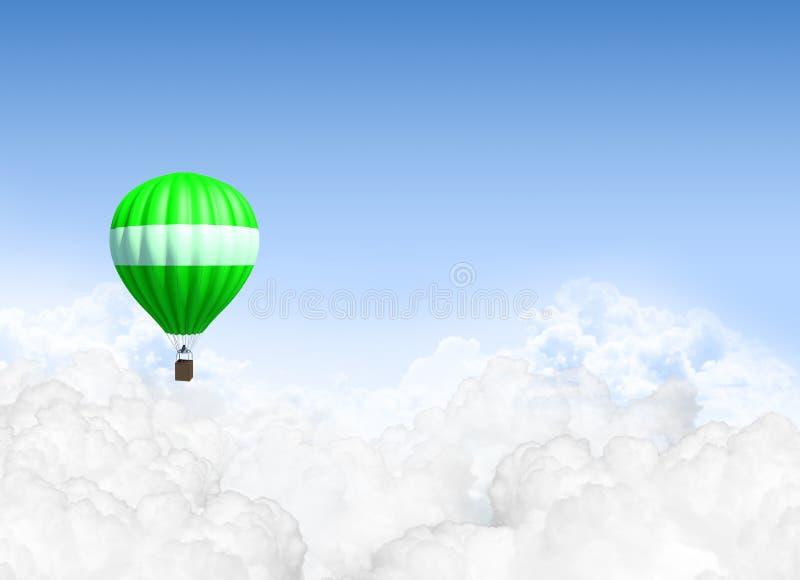 Gorące Powietrze balon Nad chmury zdjęcie royalty free
