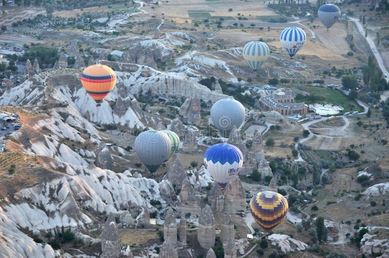 Gorące powietrze balon w indyku zdjęcie royalty free