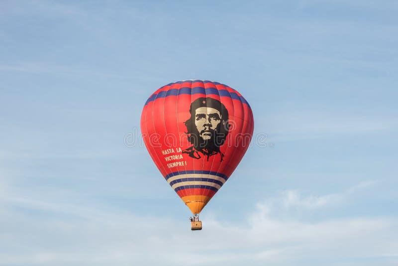 Gorące powietrze balon z Che Guevara zdjęcie royalty free