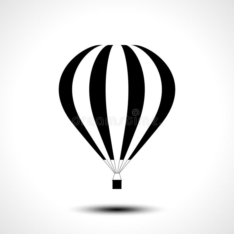 Gorące Powietrze Balonowa ikona royalty ilustracja