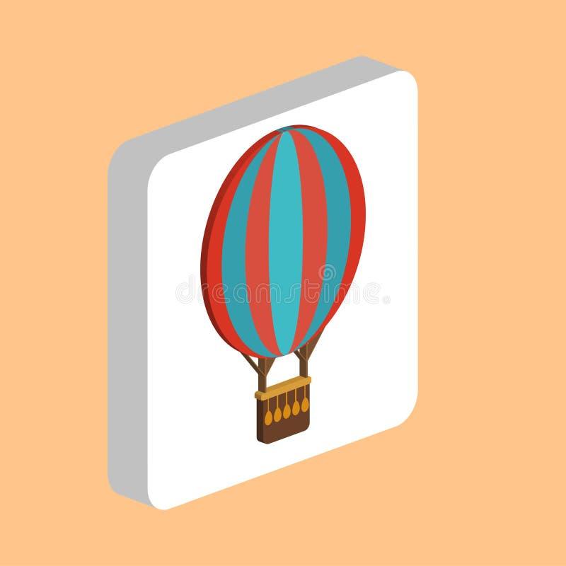 Gorące Powietrze Balonowy komputerowy symbol dla twój biznesowego projekta ilustracja wektor