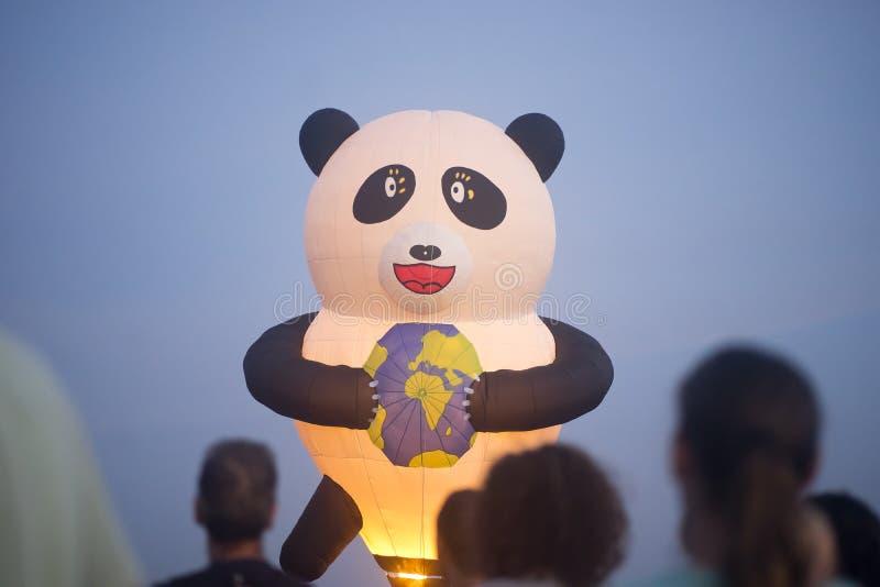 Gorące powietrze balonu przedstawienie w Harod wiośnie fotografia royalty free