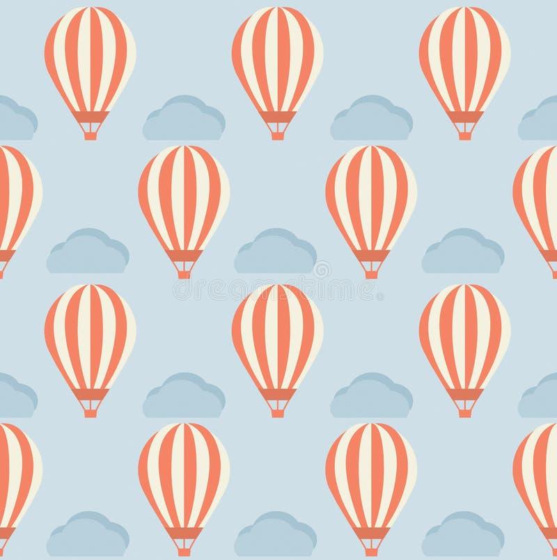 Gorące Powietrze balonu wzór ilustracji