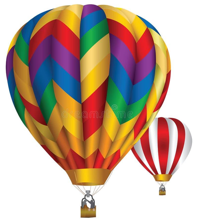 gorące powietrze balony royalty ilustracja