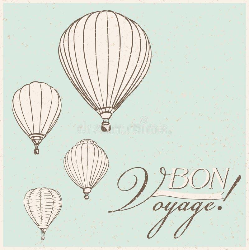 gorące powietrze balony ilustracja wektor
