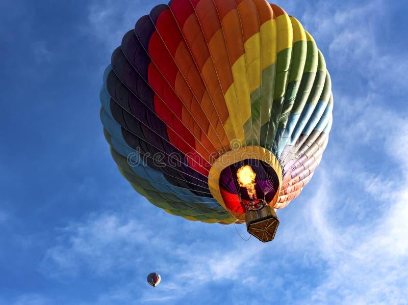 Gorące powietrze balony przy Arizona balonu klasykiem zdjęcie royalty free