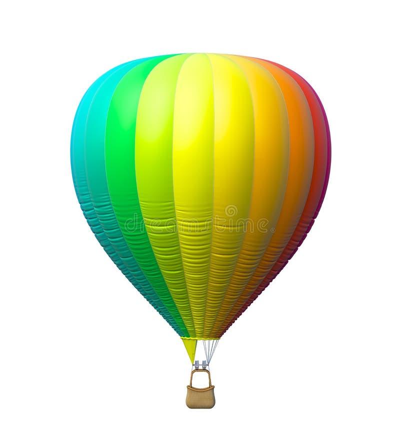 Gorące powietrze kolorowy balon odizolowywający ilustracji
