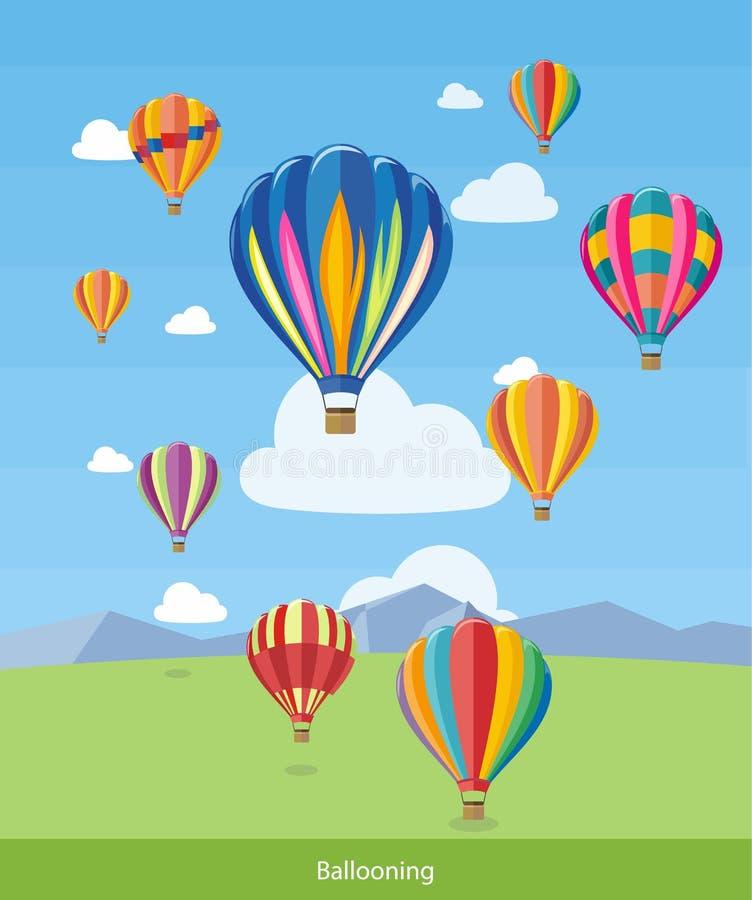 Gorące Powietrze Szybko się zwiększać latanie ilustracji