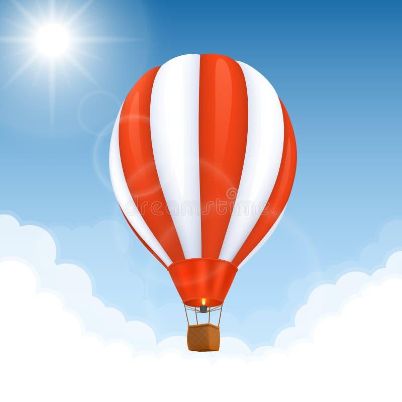 Gorące powietrze wektorowy Balon royalty ilustracja