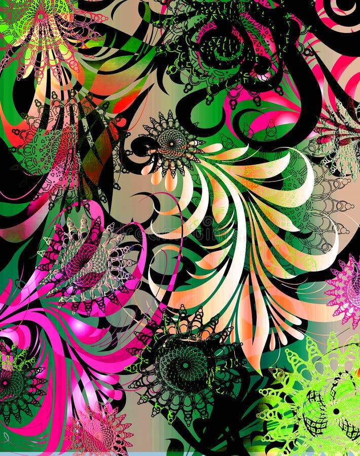 gorące różowe strugarka funku royalty ilustracja