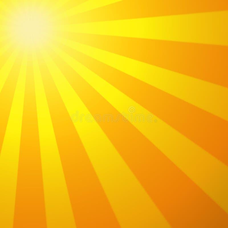 gorące słońce ilustracja wektor