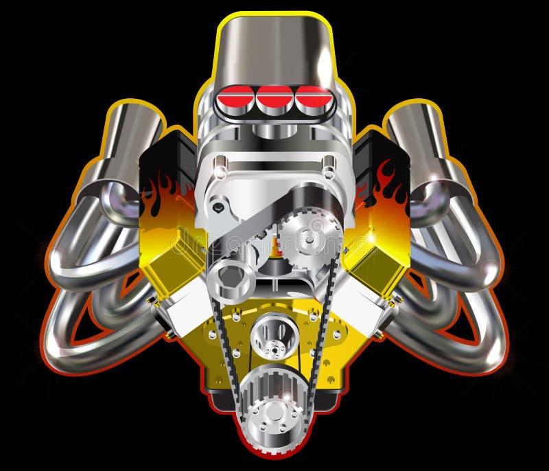 gorące silnika kij ilustracja wektor
