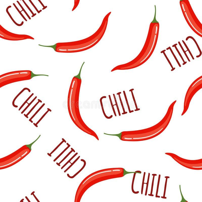 Gorącego chili bezszwowy wzór royalty ilustracja