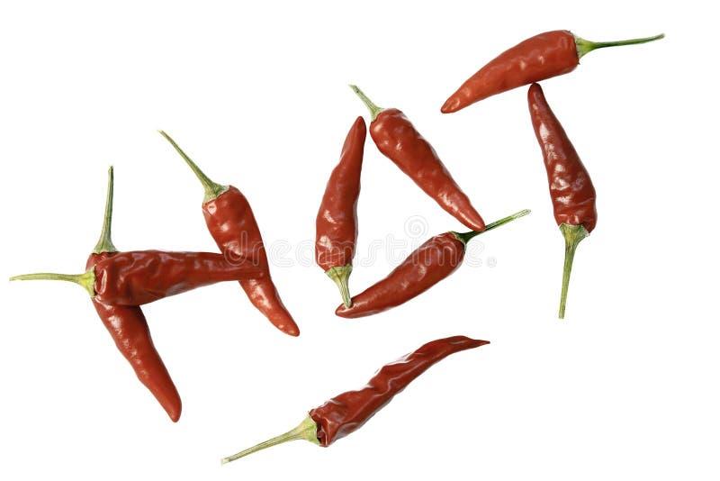 gorącego pieprzu podkreślenie zdjęcia stock